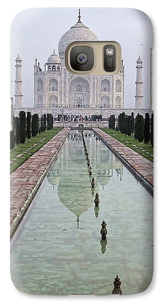 Galaxy Case featuring the photograph Taj Mahal Early Morning by John Hansen