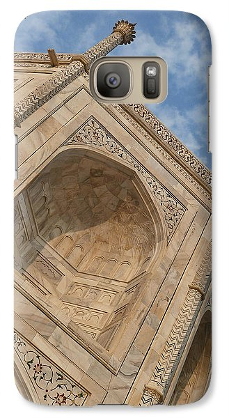 Galaxy Case featuring the photograph Taj Mahal - Workmanship by Kim Andelkovic