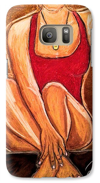 Galaxy Case featuring the drawing Take A Break by Chrissy  Pena
