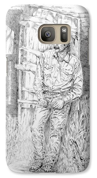 Galaxy Case featuring the painting Taking A Break by Mary Haley-Rocks