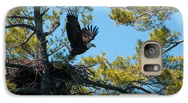 Galaxy Case featuring the photograph Taking Flight by Brenda Jacobs