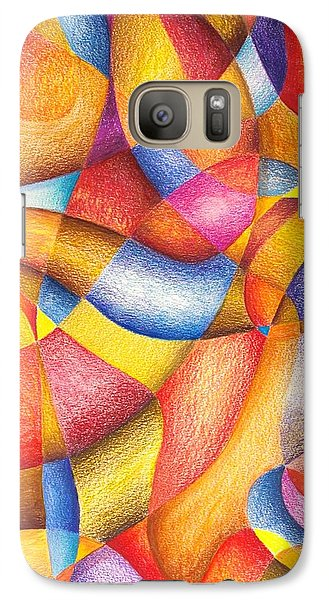 Galaxy Case featuring the drawing Talkin' 'bout Free And Easy by Rick Ahlvers