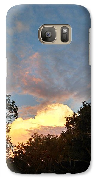 Galaxy Case featuring the photograph Talking Clouds by Jean Marie Maggi