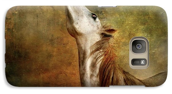 Galaxy Case featuring the photograph Talking To The Moon by Dorota Kudyba
