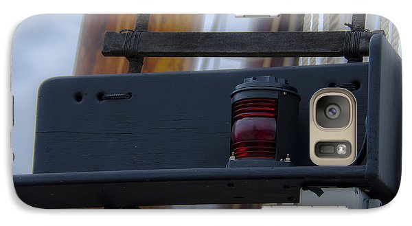Galaxy Case featuring the photograph Tall Ship Bow Light by Dale Powell