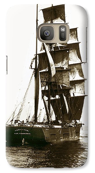 Galaxy Case featuring the photograph Tall Ship Germania Out Of San Francisco California  Circa 1900 by California Views Mr Pat Hathaway Archives