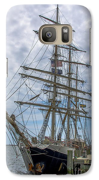 Galaxy Case featuring the photograph Tall Ship Gunilla Vertical by Dale Powell