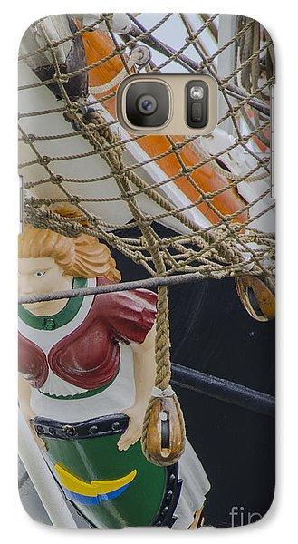 Galaxy Case featuring the photograph Tall Ship Gunilla Masthead by Dale Powell