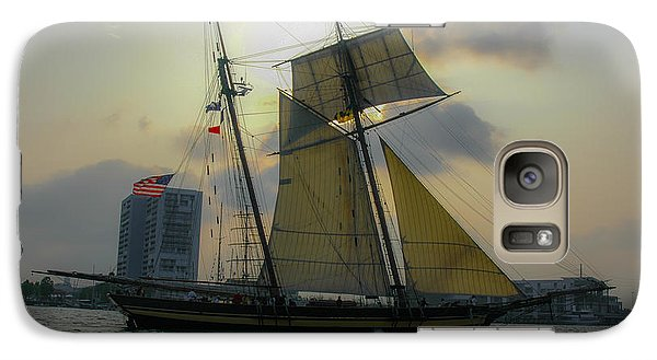 Galaxy Case featuring the photograph Tall Ship In Charleston by Dale Powell