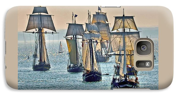 Galaxy Case featuring the photograph Tall Ships by Geraldine Alexander