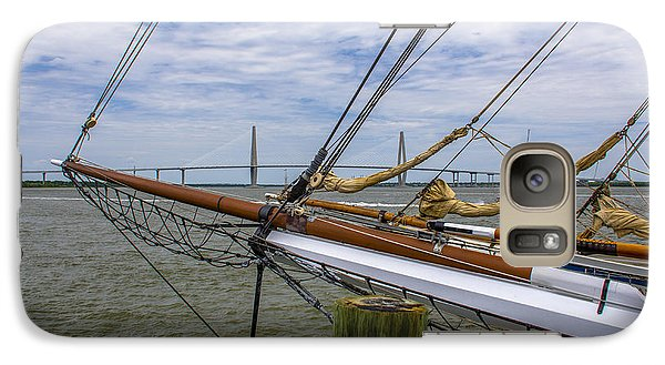 Galaxy Case featuring the photograph Tall Ships In Charleston by Dale Powell