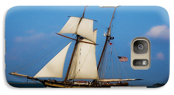 Galaxy Case featuring the digital art Tall Ships Over Charleston by Dale Powell