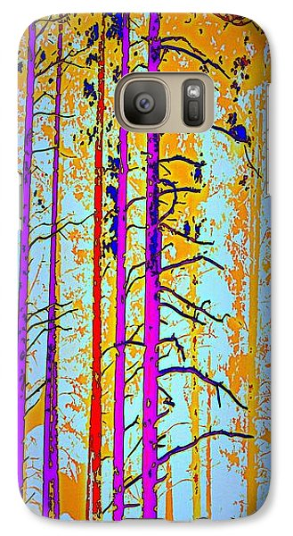 Galaxy Case featuring the photograph Tall Trees by Irma BACKELANT GALLERIES