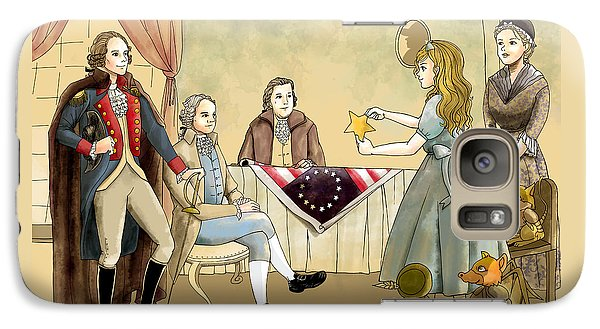 Galaxy Case featuring the painting Tammy Meets Betsy Ross And George Washington by Reynold Jay
