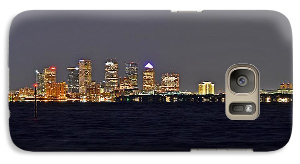 Galaxy Case featuring the photograph Tampa City Skyline At Night 7 November 2012 by Jeff at JSJ Photography