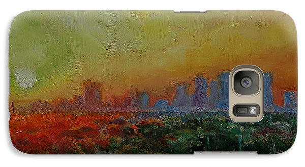 Galaxy Case featuring the painting Tampa Sunrise by Thomas Bertram POOLE