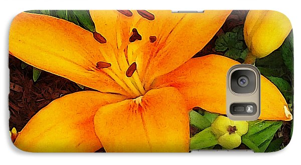 Galaxy Case featuring the photograph Tangerine Asiatic Lily by Shawna Rowe