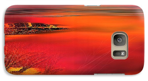 Galaxy Case featuring the painting Tangerine Dream by Yul Olaivar