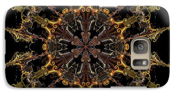 Galaxy Case featuring the digital art Tangerine Love by Rhonda Strickland