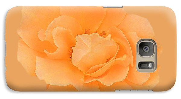 Galaxy Case featuring the photograph Tangerine Rose by Teresa Schomig