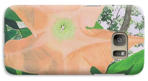 Galaxy Case featuring the painting Tangerine Trumpet by Hilda and Jose Garrancho