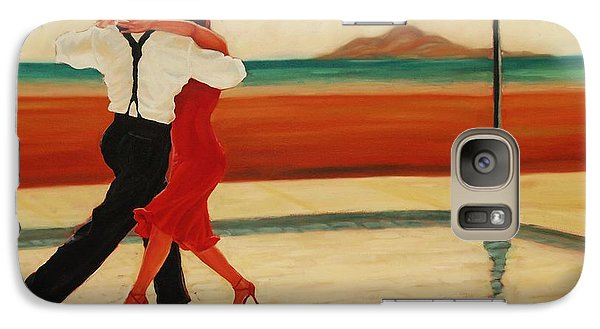 Galaxy Case featuring the painting Tango Heat by Janet McDonald
