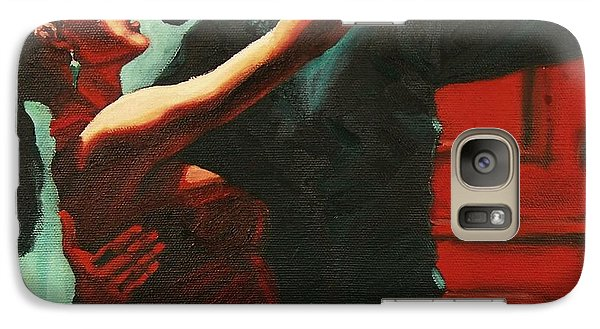 Galaxy Case featuring the painting Tango Intensity by Janet McDonald