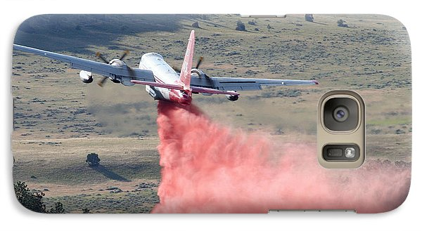 Galaxy Case featuring the photograph Tanker 45 Dropping On Whoopup Fire by Bill Gabbert