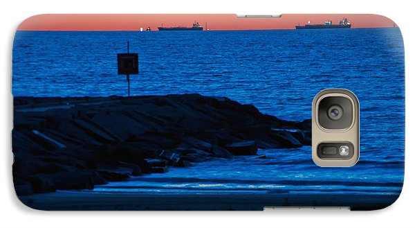 Galaxy Case featuring the photograph Tanker Sunrise by John Collins