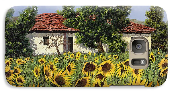 Sunflower Galaxy S7 Case - Tanti Girasoli Davanti by Guido Borelli
