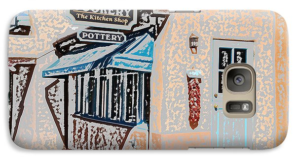 Galaxy Case featuring the digital art Taos Cookery Shop by Kathleen Stephens