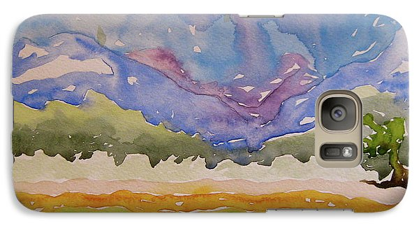 Galaxy Case featuring the painting Taos Fields by Beverley Harper Tinsley