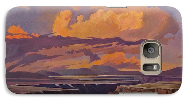Galaxy Case featuring the painting Taos Gorge - Pastel Sky by Art James West