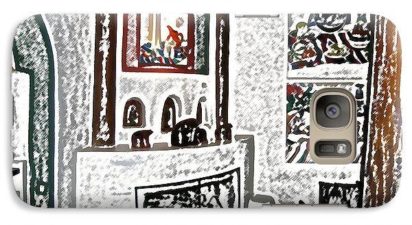 Galaxy Case featuring the digital art Taos Inn Lobby by Kathleen Stephens