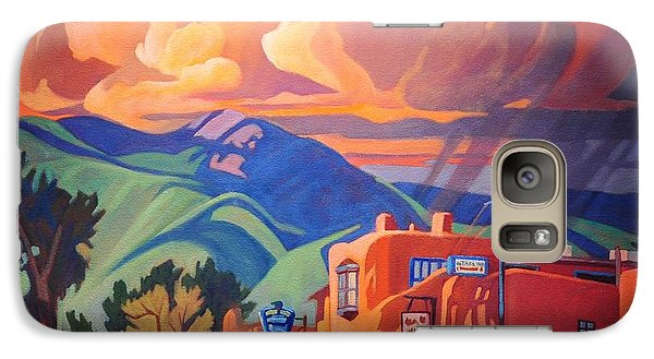 Galaxy Case featuring the painting Taos Inn Monsoon by Art James West