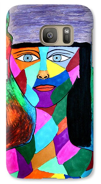 Galaxy Case featuring the drawing Tapestry by Chrissy Pena