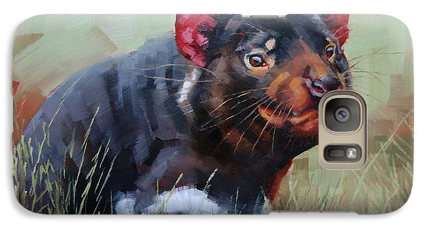 Galaxy Case featuring the painting Tasmanian Devil by Margaret Stockdale