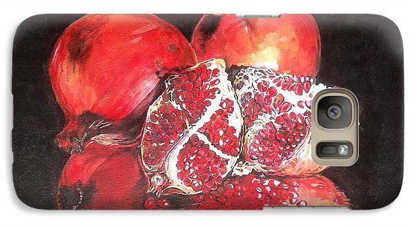 Galaxy Case featuring the painting Taste Of Red by Iya Carson