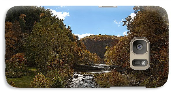 Galaxy Case featuring the photograph Taughannock Lower Falls Ithaca New York by Paul Ge
