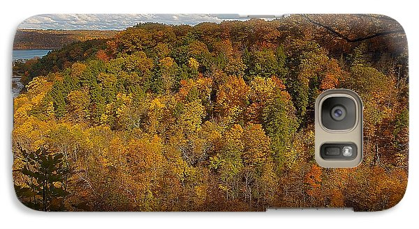 Galaxy Case featuring the photograph Taughannock River Canyon In Colorful Fall Ithaca New York II by Paul Ge
