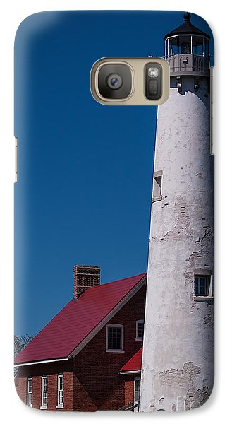 Galaxy Case featuring the photograph Tawas Point Lighthouse by Patrick Shupert