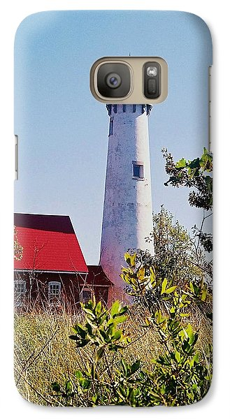 Galaxy Case featuring the photograph Tawas Point Lighthouse...from Tawas Bay Side by Daniel Thompson