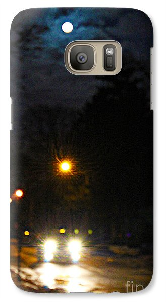 Galaxy Case featuring the photograph Taxi In Full Moon by Nina Silver