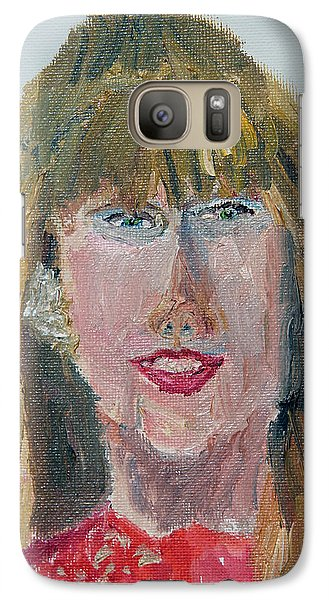 Taylor Swift Sketch Galaxy S7 Case by Michael Helfen