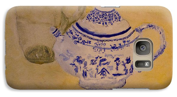 Galaxy Case featuring the painting Tea Kettle by Aleezah Selinger