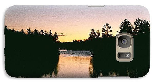 Galaxy Case featuring the photograph Tea Lake Sunset by David Porteus