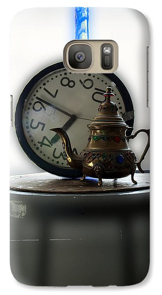 Galaxy Case featuring the photograph Tea Time by Barbara Giordano