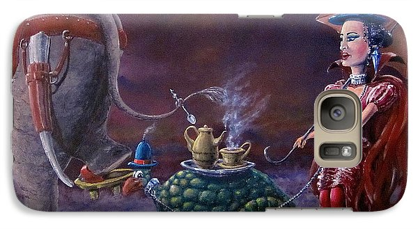 Galaxy Case featuring the painting Tea Time by Geni Gorani