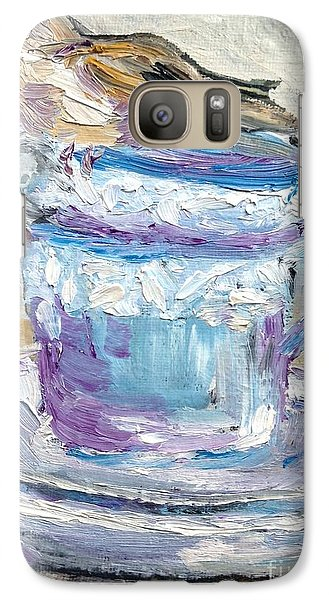 Galaxy Case featuring the painting Tea Time  by Reina Resto