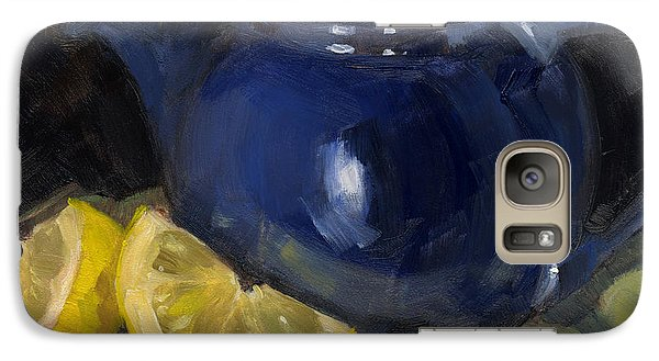 Galaxy Case featuring the painting Tea Toddlers by Nancy  Parsons